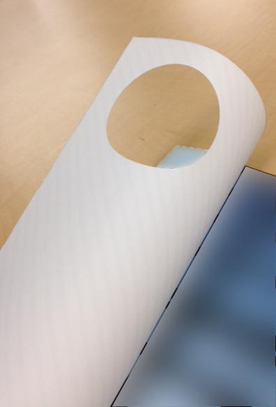パンフレット(A4)24ページ中綴じ - 表紙(型抜き)