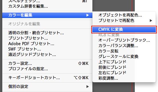 CMYKに変換
